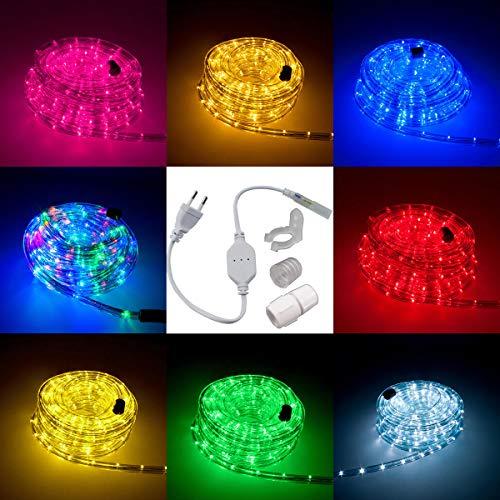 LED Lichtschlauch Komplett Set mit Zubehör Lichterkette Beleuchtung Grün Rot Warmweiß Blau RGB 5 Meter bis 50 Meter F3 LED für Drinnen/Draußen Weinachten Beleuchtung Dekoration Lichterschlauch (Lichterketten Blau Und Grün)