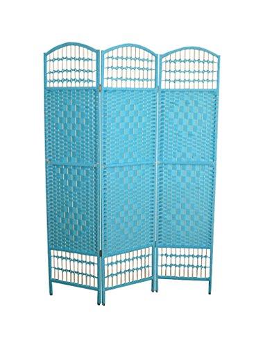 Hogar y Mas Biombo Separador de Ambientes, Azul Plegable, economico de