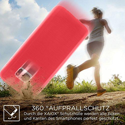 XAiOX Apple iPhone 6 / 6s brushed TPU Schutzhülle Bumper Case Back Cover gebürstet Hülle Silikon - rose rot