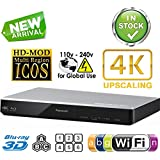 PANASONIC DMP-BDT270 2K/4K Multi Region All System Blu Ray Disc DVD Player - PAL/NTSC - 2D/3D - Wi-Fi - 100~240V 50/60Hz World-Wide Use & 6 Feet HDMI Cable Included
