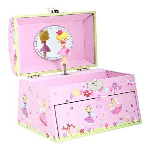Magische Fee Schmuckkästchen mit Spieluhr - Rosa Schmuckkasten für Kinder - Lucy Locket