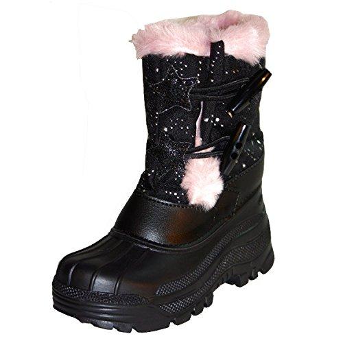 Dynamic24 Mädchen Snowboots Fellstiefel Schneestiefel Winterstiefel Stiefel Schuhe 27/28