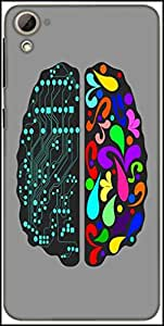 Snoogg Logic And Creative Brain 2412 Designer Protective Back Case Cover For HTC Desire 826