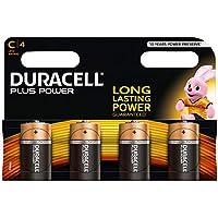Duracell Plus Power Piles Alcalines de type C, Lot de 4
