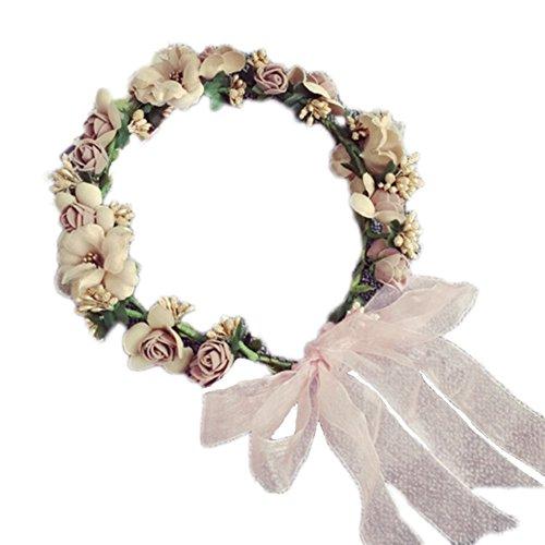 Foto de Jungen–Cinta para la cabeza para las niñas boda accesorios para el pelo guirnalda de flores de muñeca fotos de playa vacaciones Shoot