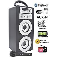 Dynasonic 025 Altavoz con Bluetooth para Karaoke, Azul