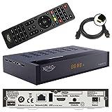 Xoro HRT 8770 TWIN Tuner DVB-T/T2 Receiver + 1,5m HDMI Kabel (Full HD, HEVC H.265, HDTV, HDMI, Irdeto Zugangssystem, Freenet TV, Mediaplayer, PVR Ready, USB 2.0