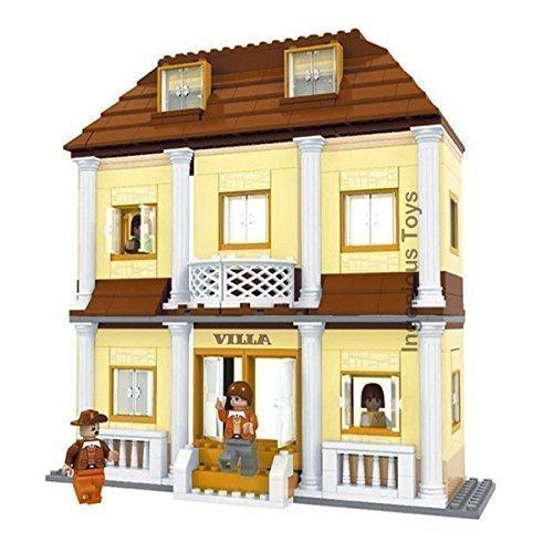 Casa Mansión de Villa con playset de familia habitaciones amigos creador de ciudad NUEVO #25704