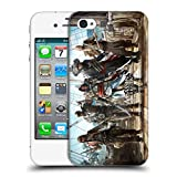 Head Case Designs Offizielle Assassin's Creed Edward Gruppe Schwarze Fahne Schluessel Kunst Ruckseite Hülle für iPhone 4 / iPhone 4S