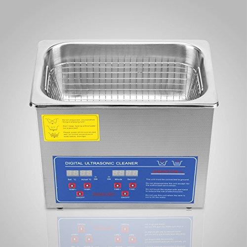 Jakan Haushalt Cleaning Equipment edelstahl Ultraschall-Reiniger, Edelstahl, grau, 3L Digital