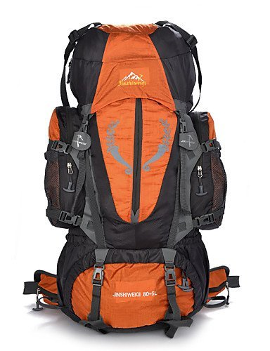 GXS Professional Outdoor Sport Reiten Camping wasserabweisend Multifunktions Schultern Bergsteigen Taschen 80L + 5L grün - grün