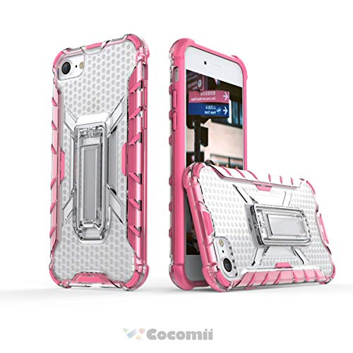 Cocomii Honeycomb Armor iPhone 8/iPhone 7 Hülle NEU [Strapazierfähig] Taktisch Griff Ständer [Schmale Passform] Leicht Transparent Case Schutzhülle for Apple iPhone 8/iPhone 7 (H.Crystal Pink)