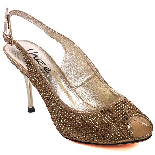 Ouro 37-2 - Onça Para As Sandálias Da Moda Cintilantes Mulheres Caprio'