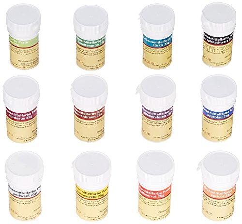 Pati-Versand Lebensmittelfarbe Paste 12er Set, 1er Pack (1 x 300 g)