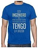 Camiseta para Hombre - Soy Ingeniero Solo Asume Que Siempre Tengo la Razón - Regalo Original para Ingenieros Large Azul