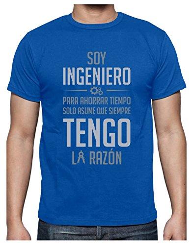 Camiseta para Hombre - Soy Ingeniero Solo Asume Que Siempre Tengo la Razón - Regalo Original para Ingenieros Medium Negro