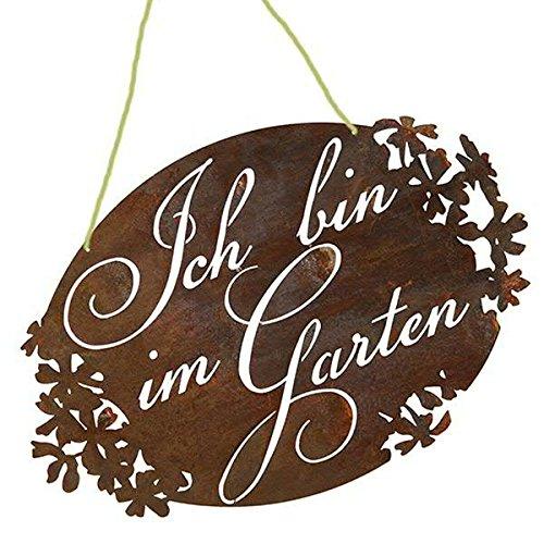 Rost - Gartenschild zum Hängen -