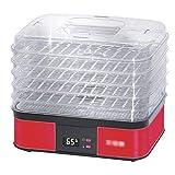 HBBH Alimentos Secado, presupuesto, Ahorro de energía, Deshidratador de Fruta y verdura, Temperatura Regulable, Control Inteligente, 250W