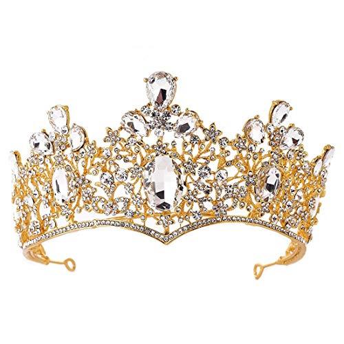 LINDANIG Luxus Barock Braut Krone Beauty Beauty Show Hochzeitskleid Zubehör Headwear Stirnband (Color : ()