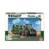 Schmidt Spiele 56255 Fendt 1050 Vario mit Amazone Grubber Cenius, Kinderpuzzle, 60 Teile, Weiss