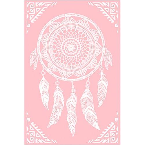 Indiens d\'Amérique Fleece Plaid Thema indischen Rosa 130x 170cm -