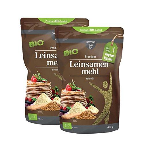 2 x borchers farine de lin biologique ( 2 x 400 g)