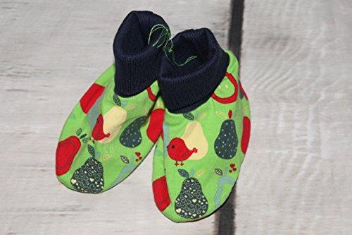 Baby Schühchen Puschen Schuhe Vögel Birnen handmade -