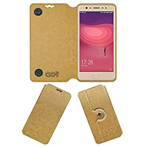 ACM Designer Rotating Flip Case for Coolpad Note 6 Mobile Stand Cover Golden