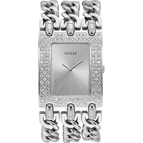 Guess Damen Analog Quarz Uhr mit Edelstahl Armband W1275L1