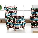 LaNovenaNube - Funda sillón KILIM Orejero 1 plaza color Naranja