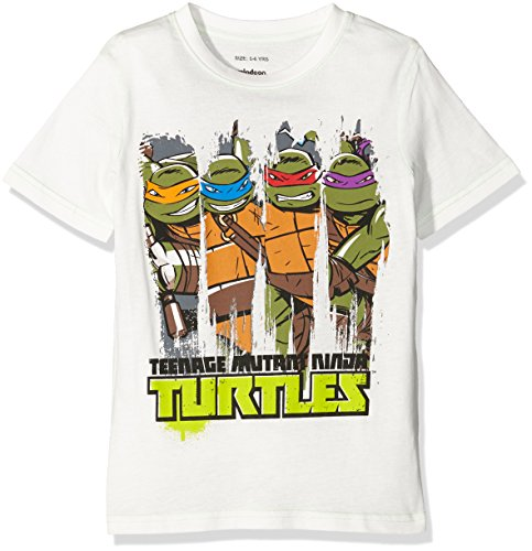 (Teenage Mutant Ninja Turtles Jungen T-Shirt Gr. XX-Large, Weiß)