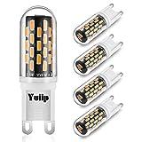 G9 LED Lampe Birnen 2.5W Ersetzt 28W 30W 40W G9 Halogenlampe CRI> 90 Kein Flackern 3000K Warmweiß 230 Volt Leuchtmittel LED 350 Lumen G9 led glühbirne 4er Pack Yuiip[Energieklasse A ++]