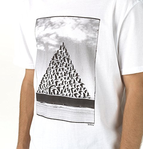 Burton Herren T-Shirt Smith Slim Short Sleeve Stout White