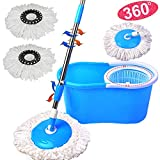 Magic Spin 360° Floor Mop Home Cleaner Spinning Mop Bucket Set Microfiber Rotating