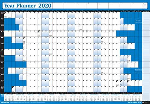 Calendario Con Festivita.Calendario 2019 Da Ufficio A Parete Formato Poster Con Festivita Pubbliche Nel Regno Unito E In Irlanda Incluse Con Calendario 2020 In Basso Da