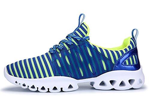 IIIIS-R Laufschuhe Outdoor Fitnessschuhe für Damen Herren Atmungsaktiv Blau Grün