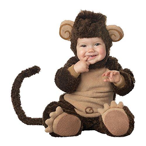 Tierkostüm Baby - LPATTERN Kinderkostüm Overall- Baby/Kleinkind 3tlg Lustiges Karnevalskostüm Dicker Tierkostüm, AFFE, Gr. 86/92(Herstellergröße: 95/L)