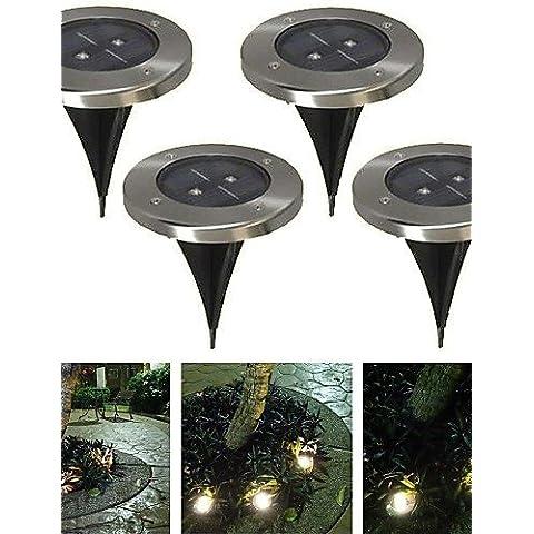 ASNSWDC® paquete de 4 cálida luz blanca planta solar para la iluminación del paisaje del jardín vía escalera , warm white