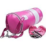 GORILLA SPORTS Boxsack Sandsack Boxtraining Set mit Handschuhen pink