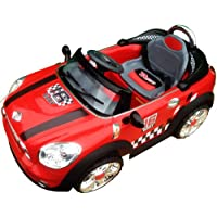 12v Licensed Official Mini Cooper Ride on Electric Car with Parental Remote Control (Red)