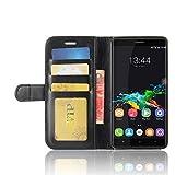 Oukitel K6000 Pro Brieftasche Flip Hülle - 2 in 1 Flip Handysocken Schutzhülle Litschi-Textur Standfunktion Tasche und - Beschützer Smartphone (Schwarz)