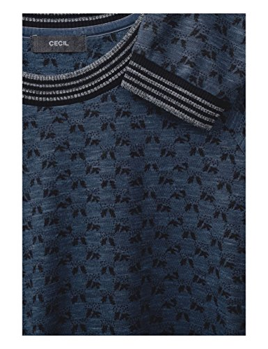Cecil Damen Sweatshirt Blau (Deep Blue Melange 30157)