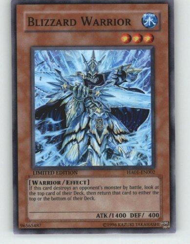 2009 YuGiOh! 5D's Hidden Arsenal # HA01-EN002 Blizzard Warrior (Super Rare) / Single YuGiOh! Card in Protective Sleeve by Yu-Gi-Oh! - Blizzard Yugioh