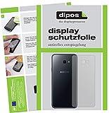 dipos I 6X Schutzfolie matt passend für Samsung Galaxy J4 Plus (2018) Rückseite Folie Displayschutzfolie