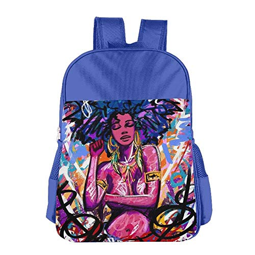 Sexy Plaid School Girl (Sexy African Black Woman Children School Backpack Carry Bag for Youth Boy Girl)