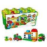 LEGO 10572 DUPLO My First All in One Box of Fun, Large Bricks Preschool Building Set with Storage, Toys for Kids Age 1, 5-5