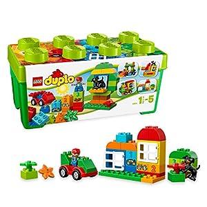 LEGO DUPLO - My First Caja de Diversión, Juguete de Preescolar de Construcción para Niños y Niñas de 1 Año y Medio a 5 Años Divertido y Educativo (10572)