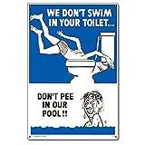 Poolmaster 41327Wir Nicht Schwimmen in Ihrem WC... Schild für privaten Pools