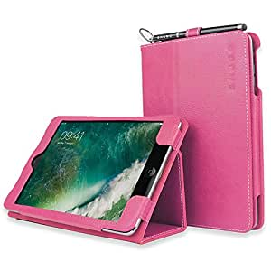 Étui pour iPad Mini 1/2, Snugg™ - Housse de Protection en Cuir Rose, Style Smart Case Avec Garantie à Vie Pour Apple iPad Mini et iPad Mini 2