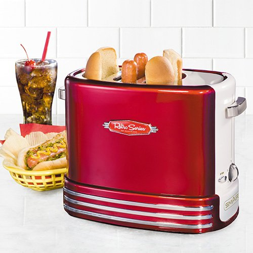 51maem%2BtFJL. SS500  - Smart RHDT700 Red Retro Pop-Up Hot Dog Toaster Party Appliance, Metal